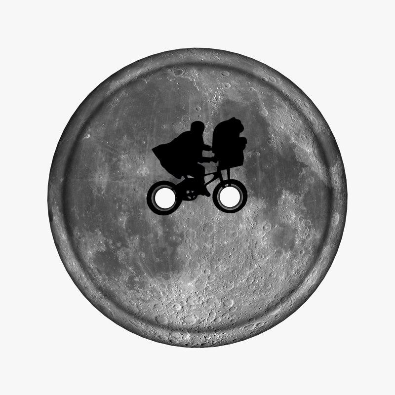 clothing button moon et 3d model