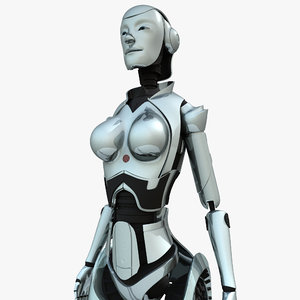 android woman 3d max