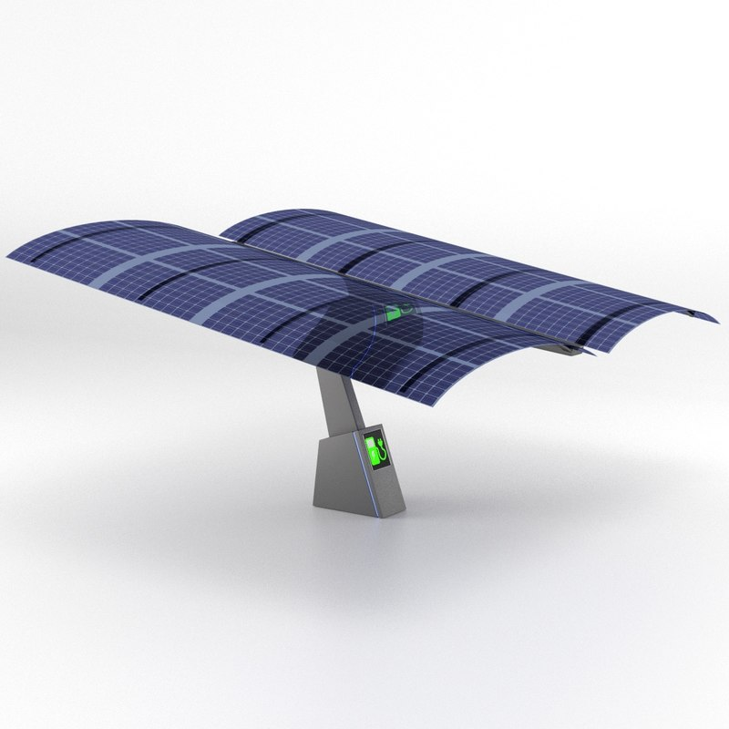 photovoltaic sunshade electric vehicle 3ds