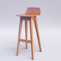 3ds max morph bar stool