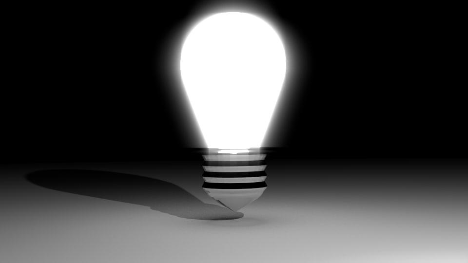 light bulb basic 3d model