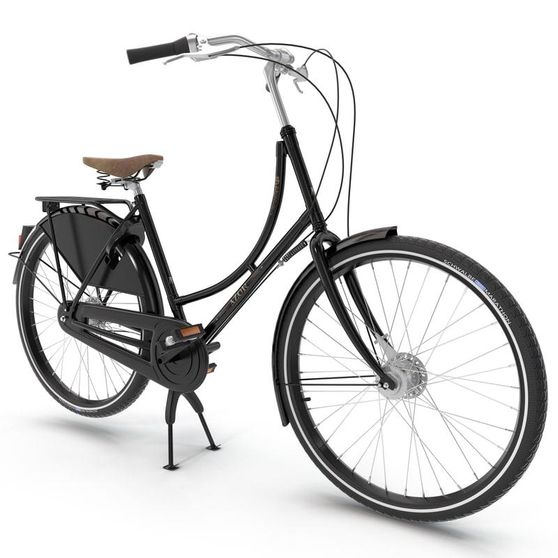 azor european city bicycle 3ds