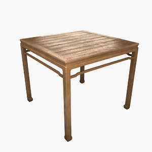 square table furniture pear 3d max