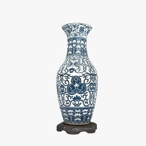 3d porcelain large vases