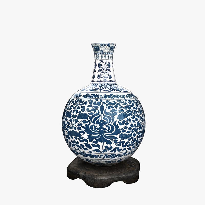 porcelain vase 3ds