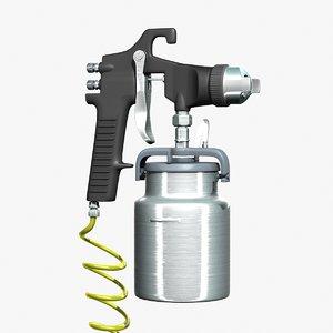 3ds max paint spray gun