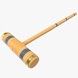 3d croquet mallet model