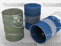 3d model of barrels