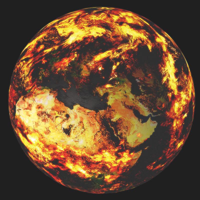 planet earth 3d c4d