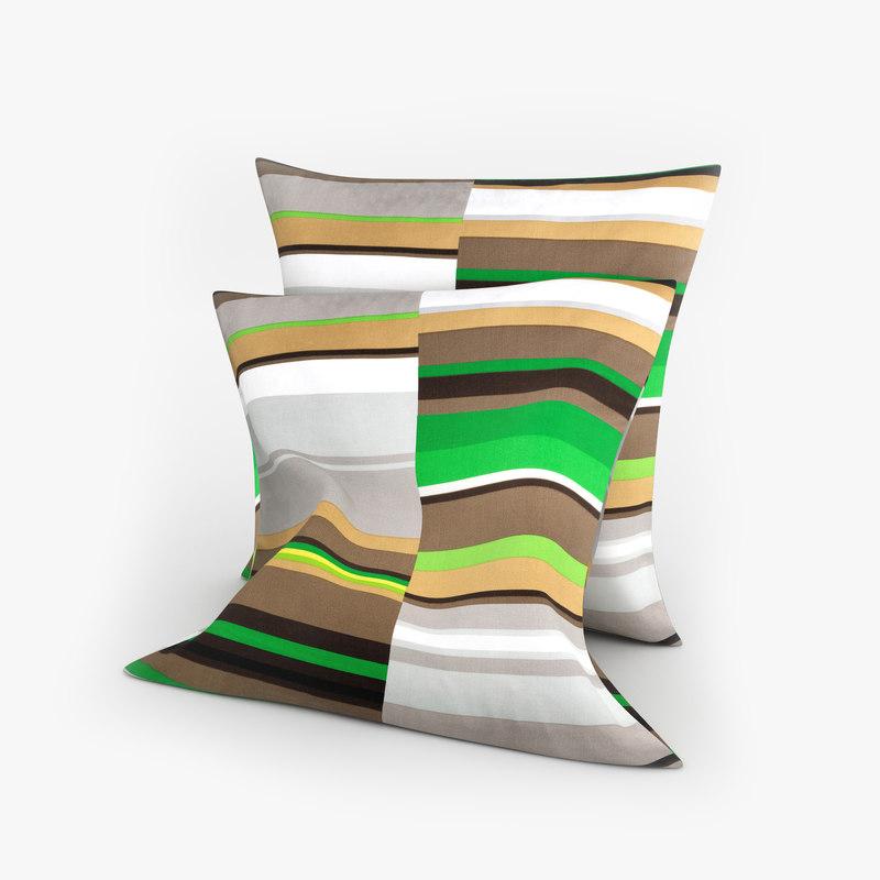 3d ikea pillows stockholm green