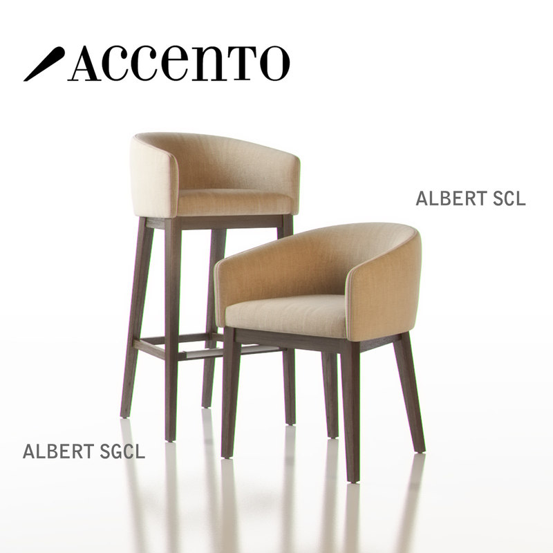 3ds max accento albert armchair
