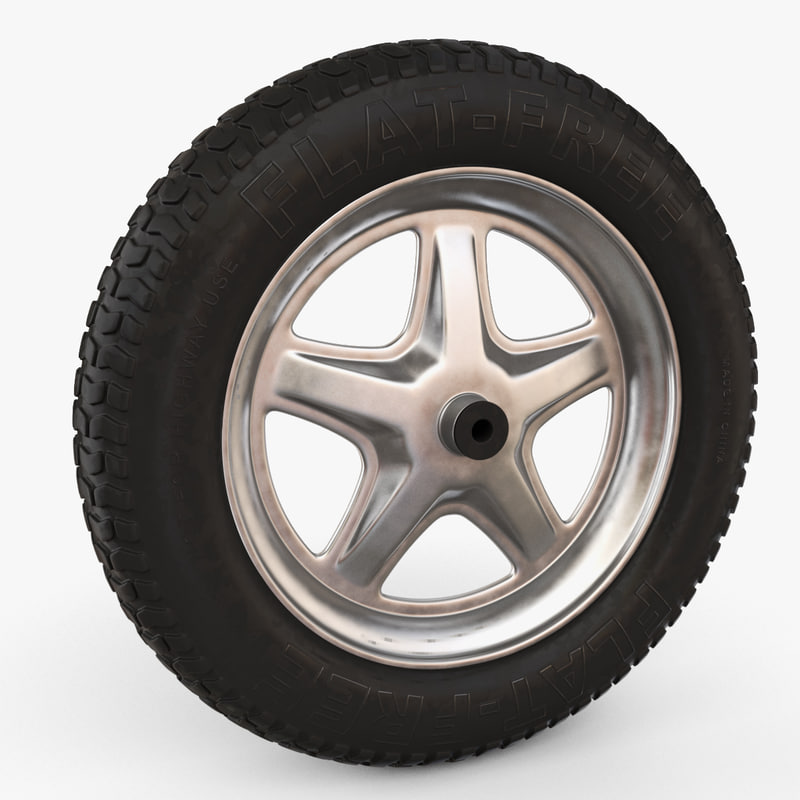 wheel flat 3d model