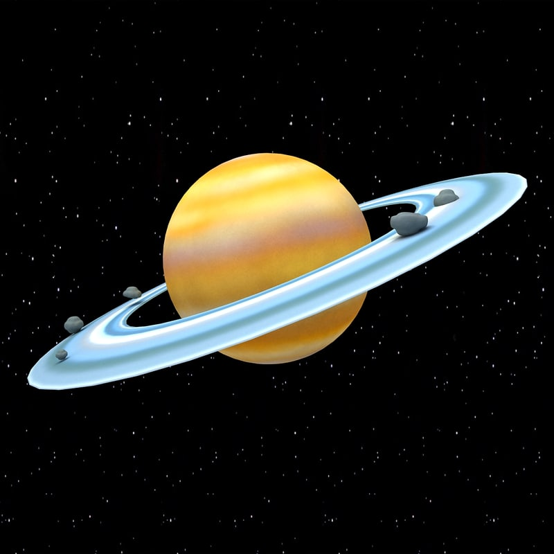3ds cartoon saturn