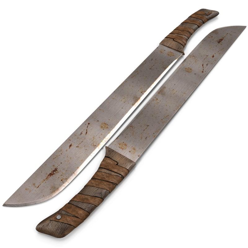old machete 3d max