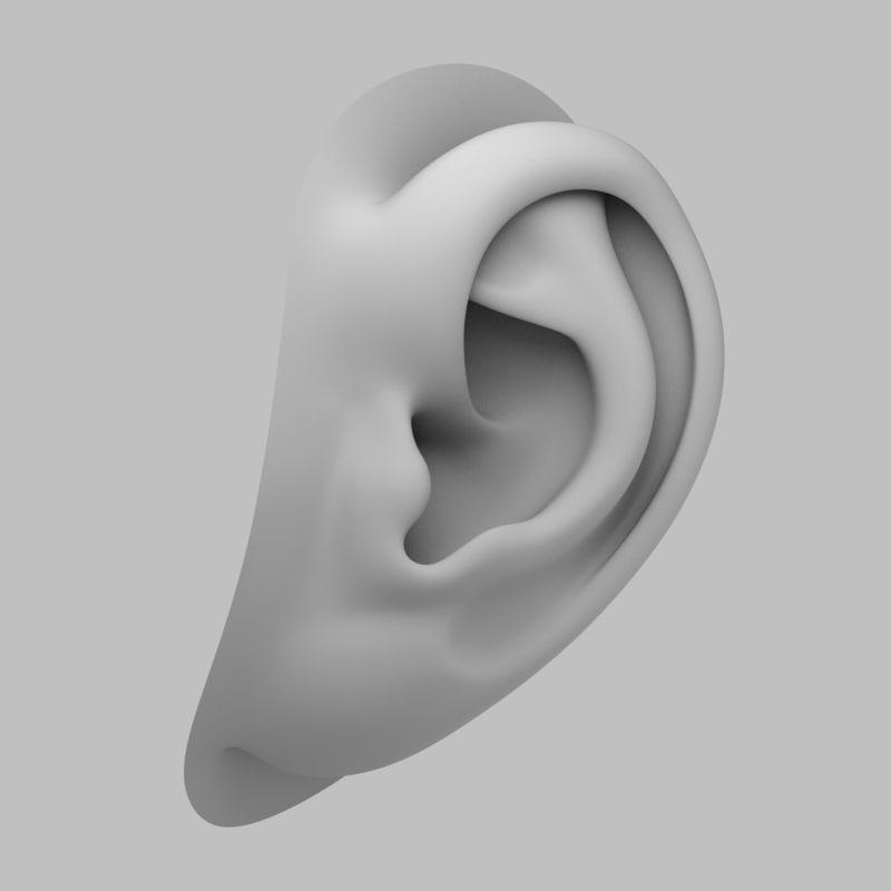 3d blend human ear