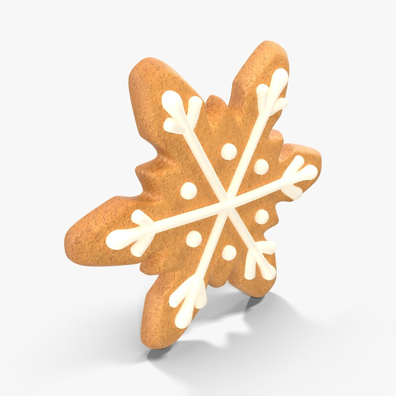 gingerbread cookie snow 3d model