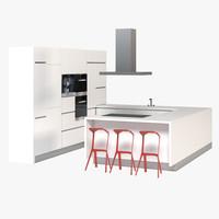 kitchen realistic 3d max