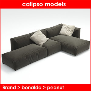 peanut b bonaldo sofa 3d model