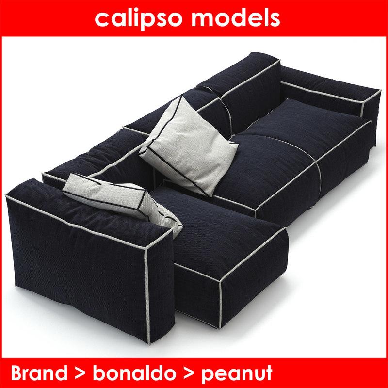 peanut b bonaldo sofa 3d model