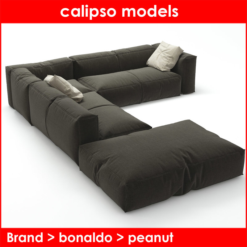 3d max peanut b bonaldo sofa