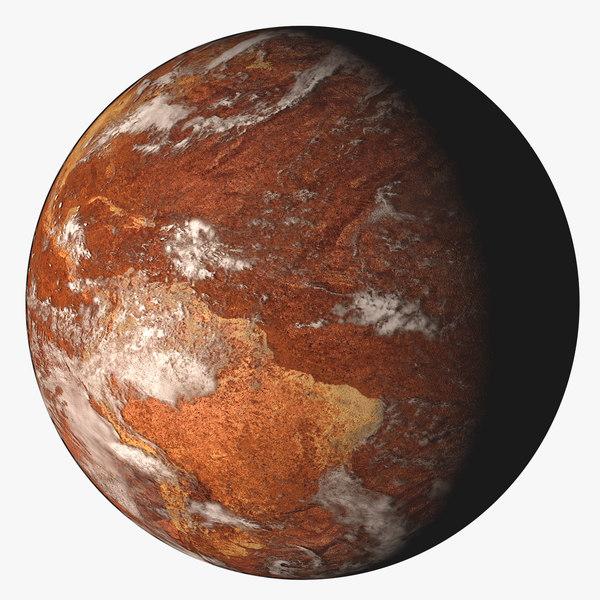 desert earth planet 3d model