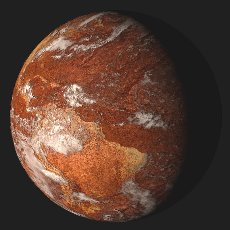 desert earth planet 3d model