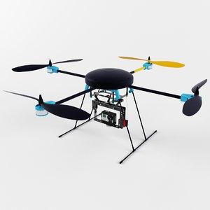 3d lotusrc t580 quadcopter