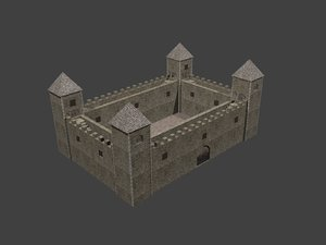 3d model fortress fort