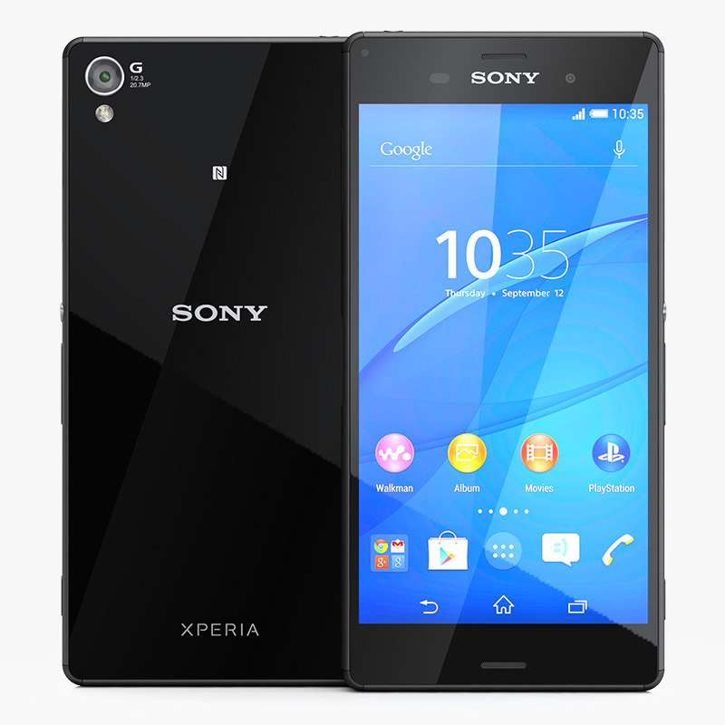sony xperia z3 phone 3d model