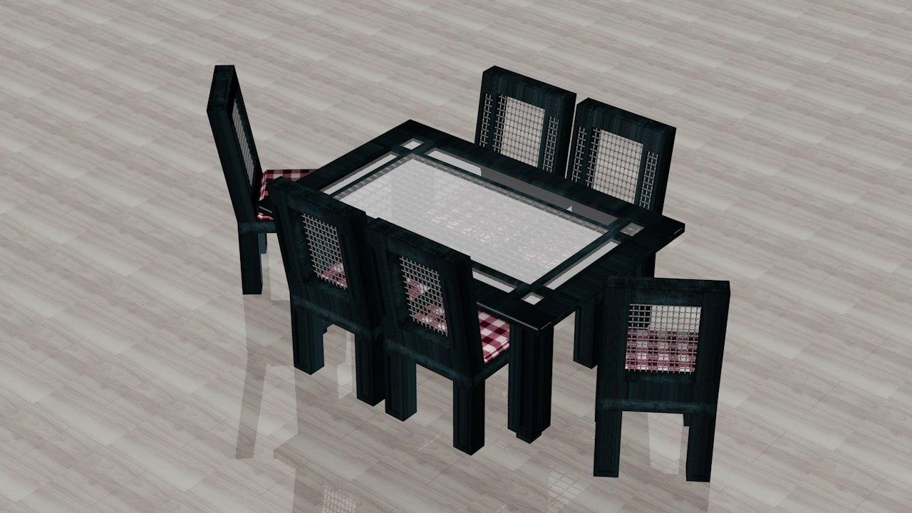 dining room c4d