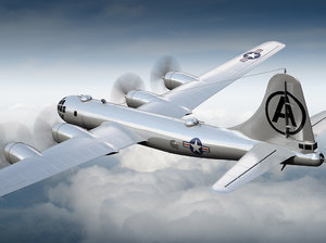 super bomber boeing 3d max