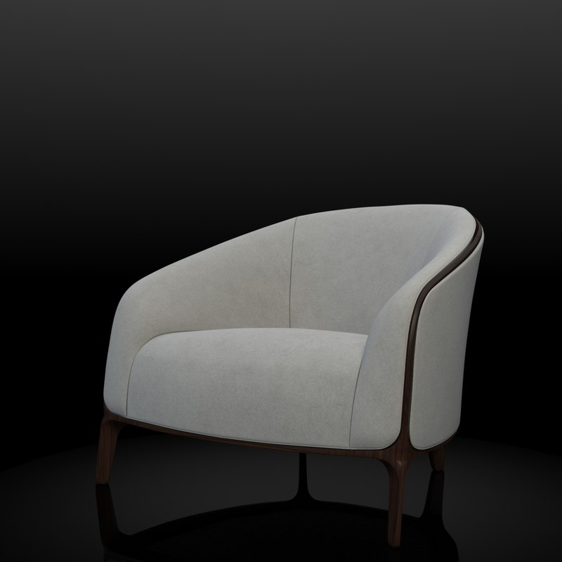 3d max bernhardt catherine lounge chair