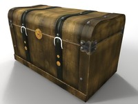 3d model chest old