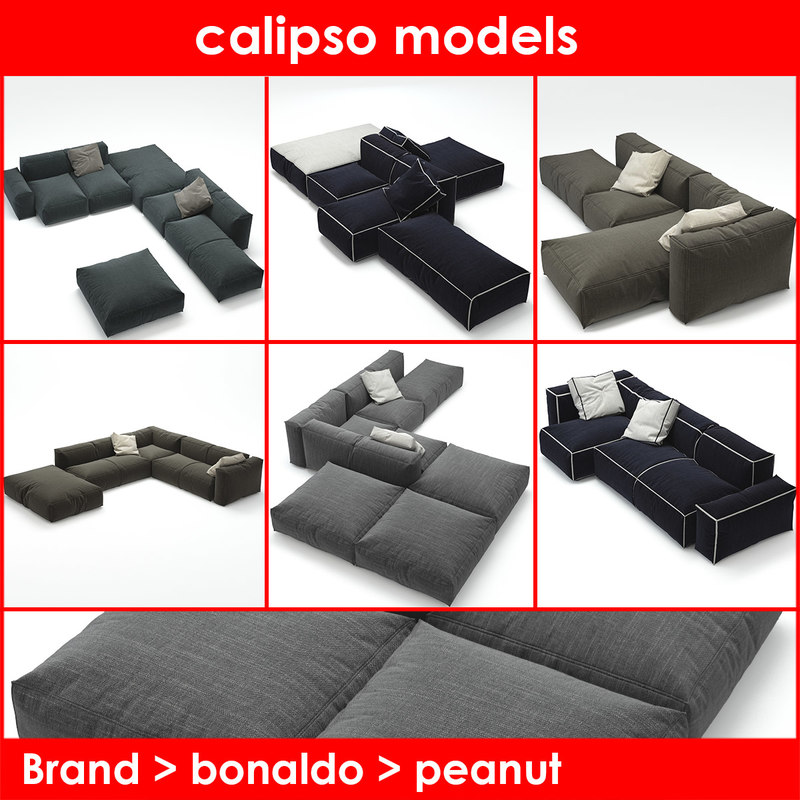 3d model peanut b bonaldo sofa
