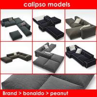 3d model peanut b bonaldo sofa