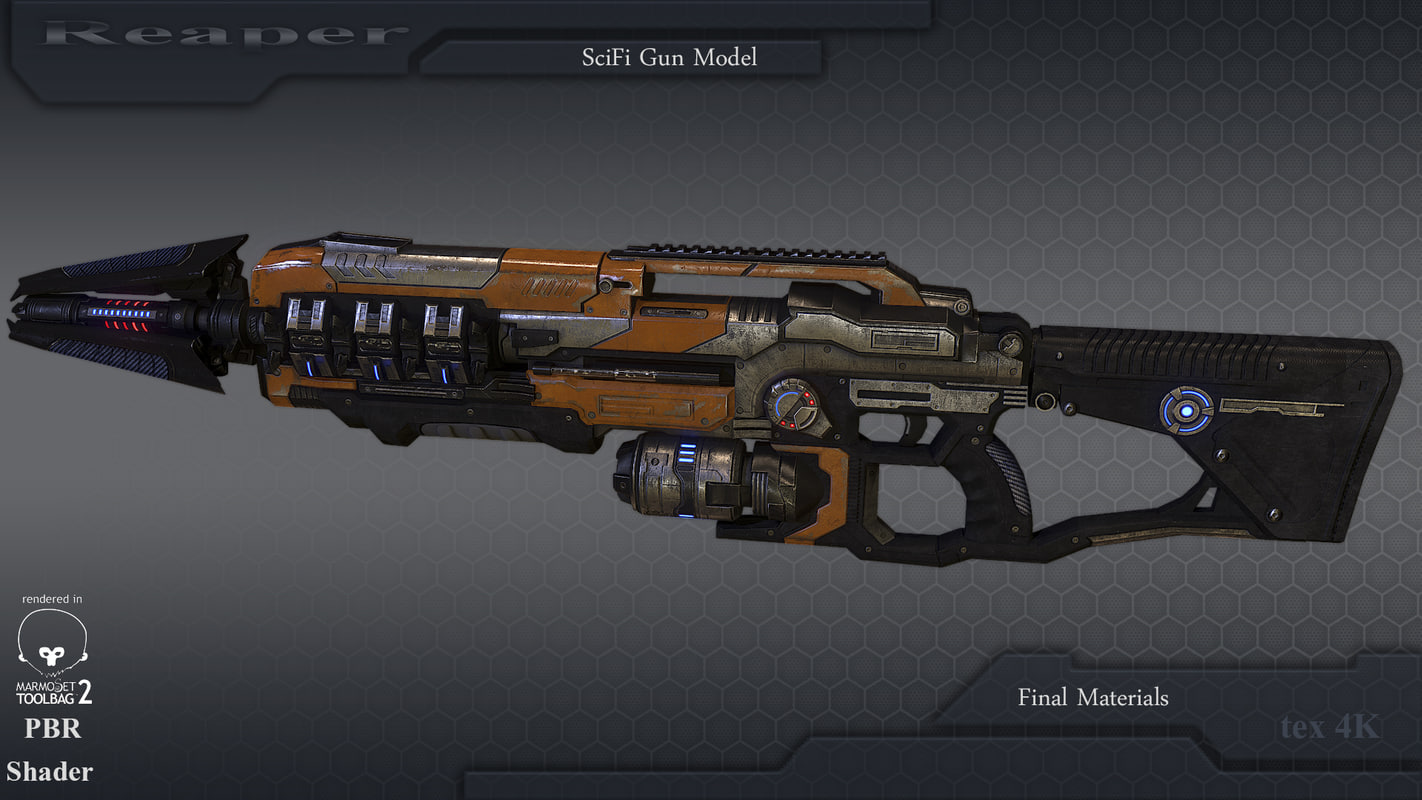 gun marmoset unreal4 3d model
