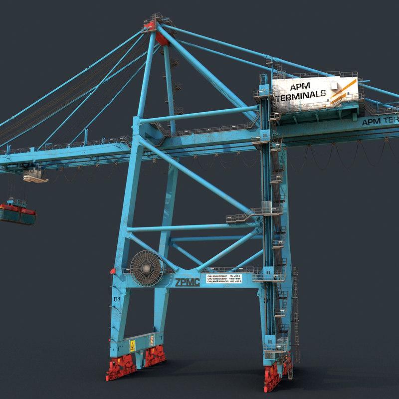3d harbor crane