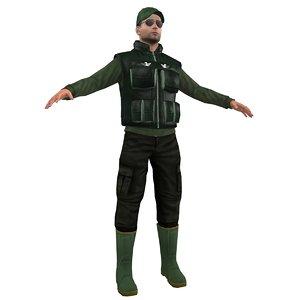 fisherman hat vest 3d max