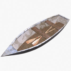 boat paddles - 3d 3ds