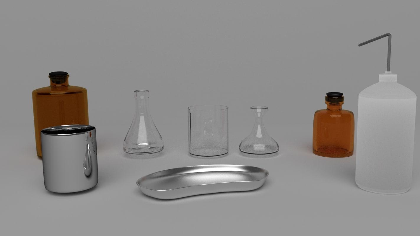 medical chemical materials 3d model