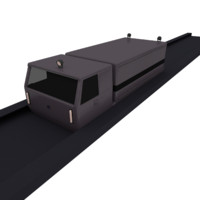 3d maglev truck model