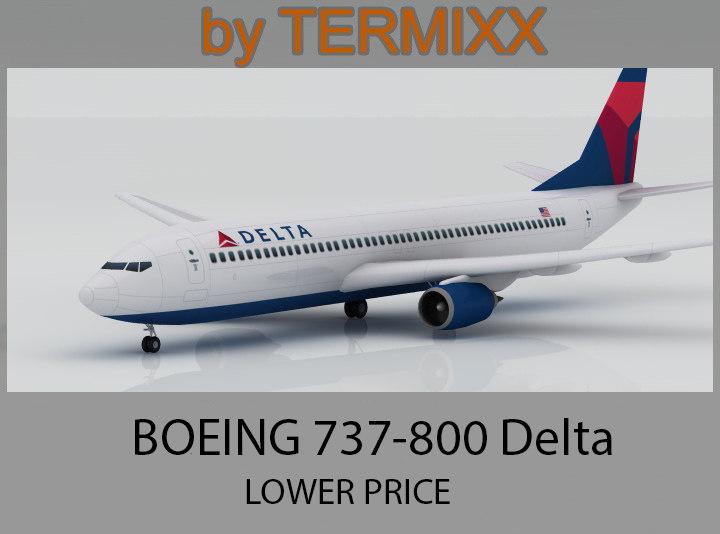 max airplane boeing 737-800 delta