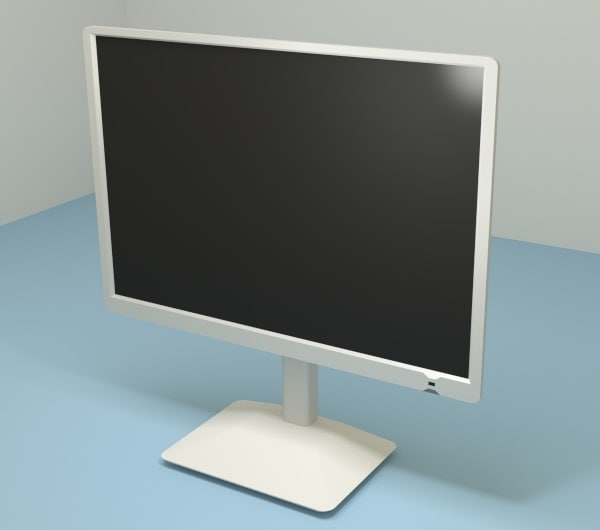 office monitor obj