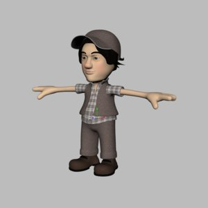 3d cartoon boy character model