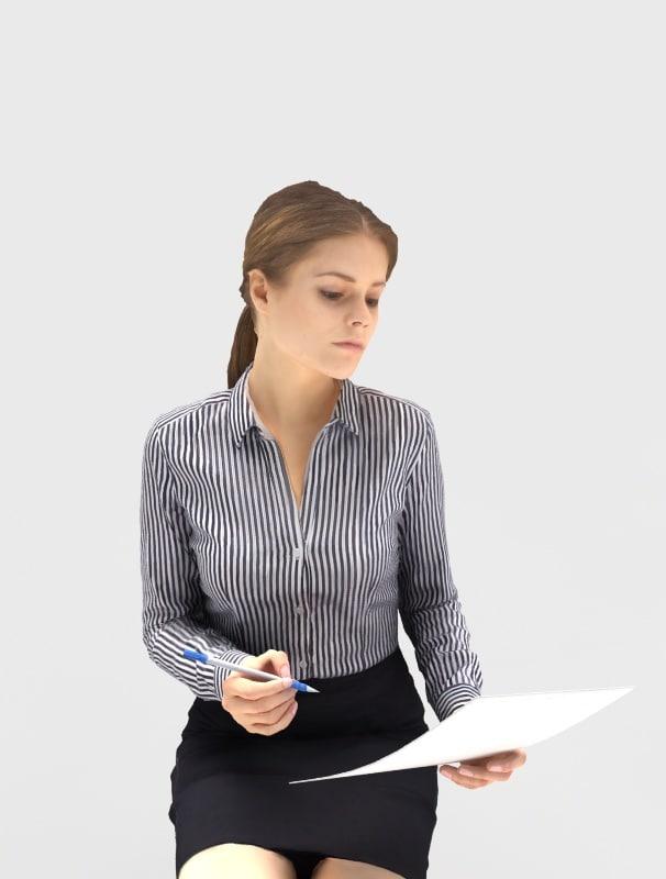 woman businesswoman business 3d max