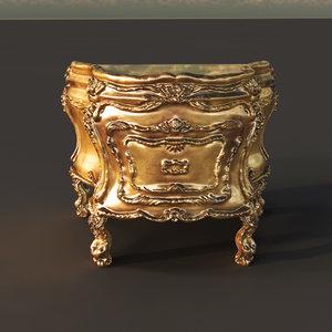 3d gold royal desk