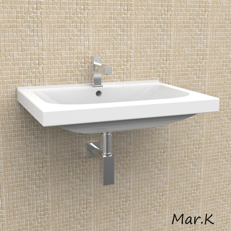 basin washbasin 3d 3ds