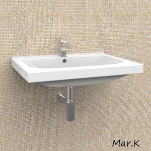 basin washbasin 3d 3ds
