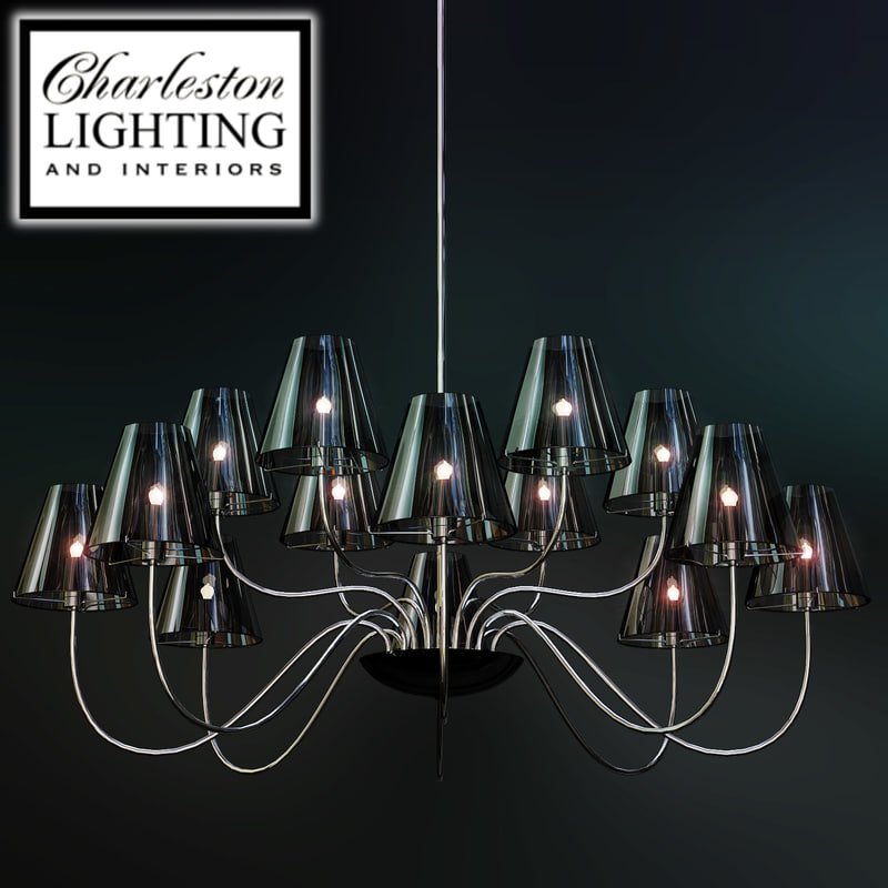 3d charleston lighting interiors chandelier model