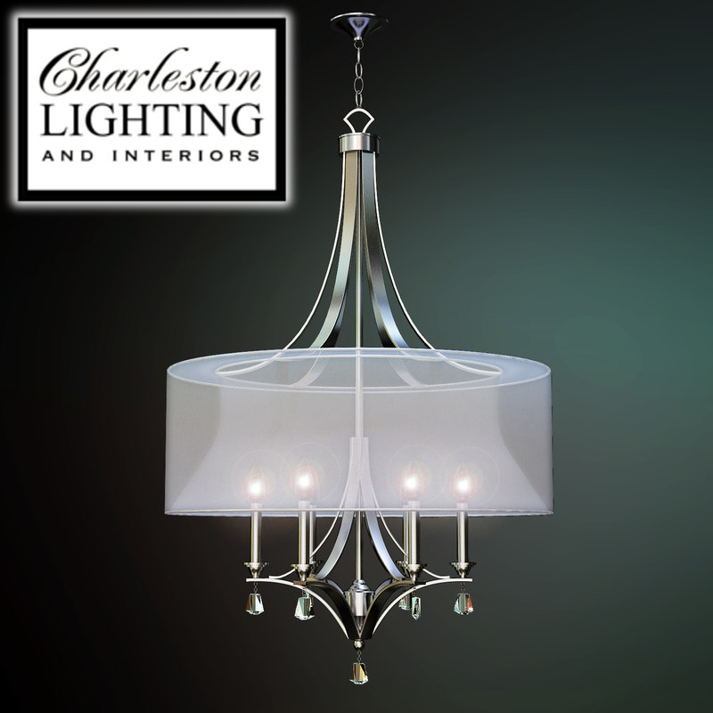 3d Model Of Charleston Lighting Interiors Chandelier